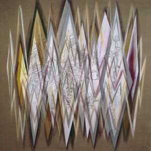 "Corpus Mentis, 2014, 48x48"", acrylic on linen"