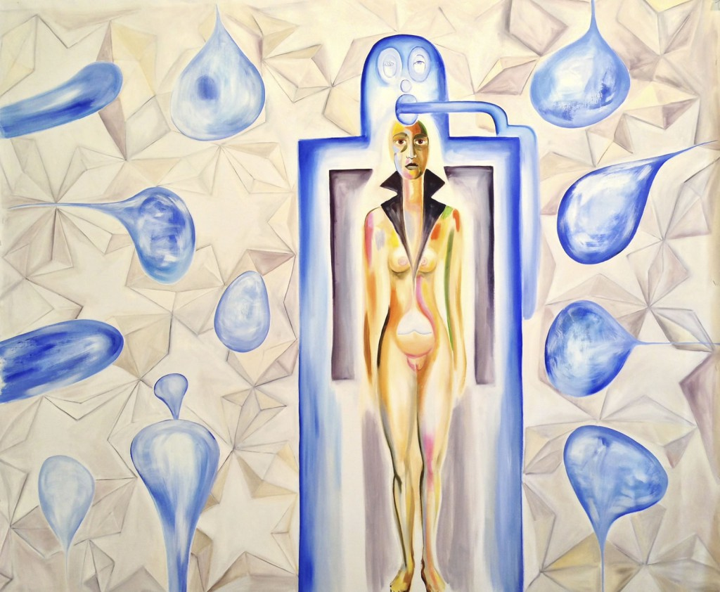 "Space Maiden, 2013, 52x60"", oil on canvas"