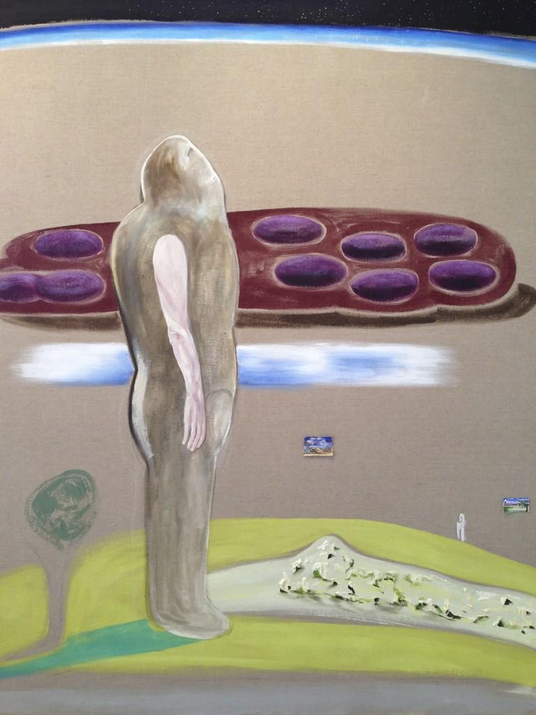 """Homo Habilis, 2013, 66x48"""", oil and acrylic on linen"""