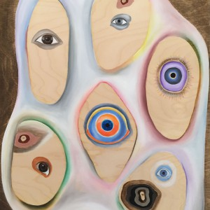 """painting/sculpture, 20x16"""", 2015, oil on panel"""