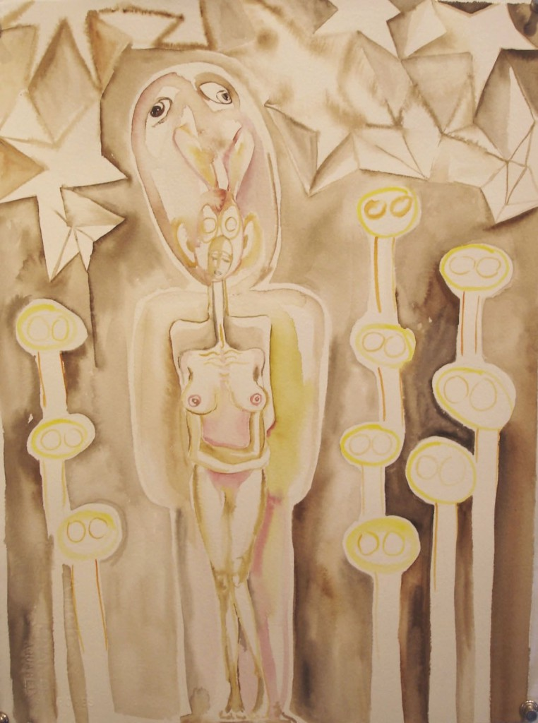 "1969, 11""x15"", watercolor on paper"