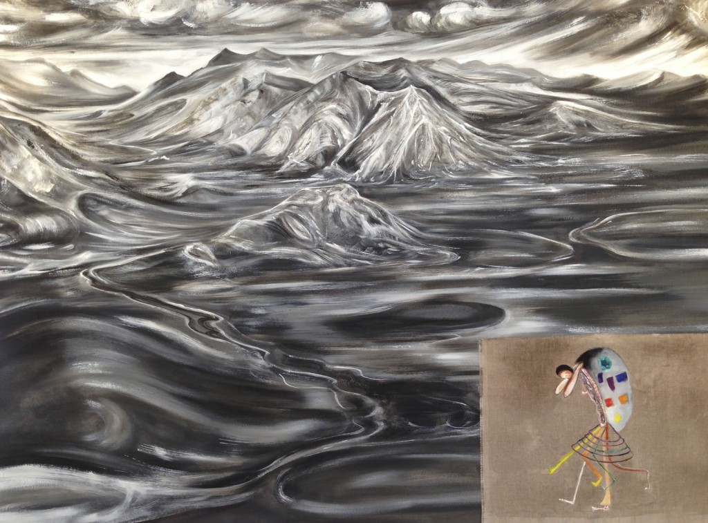 """The Color Bearer, 2013, 38x51"""", oil on linen"""
