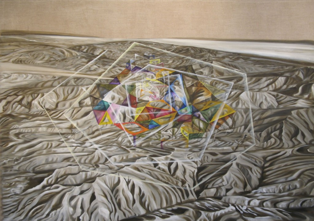 Tower of Babel, 2008, oil on linen, 48x60""