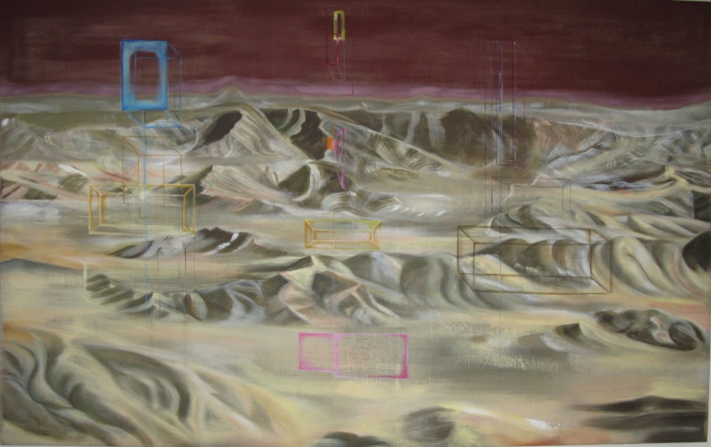 Dwellings in the Valley, 2008, oil and acrylic on linen