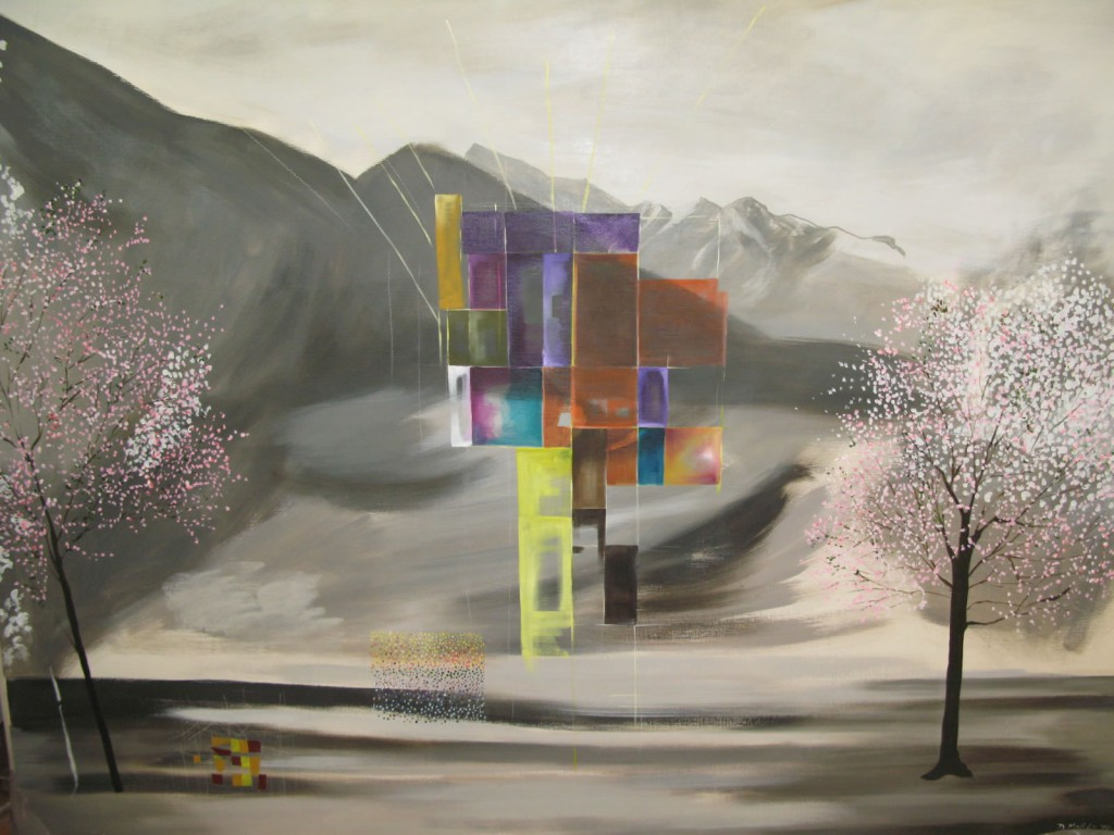 "Future City, 2008, 53x71"", oil on canvas"