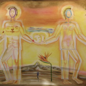 "Darwin's Adam and Eve, 2010, 49x79"", oil on canvas"