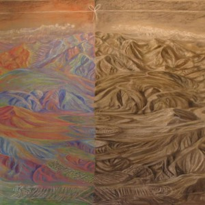 "East West, 48x120"", pastel on linen, 2"