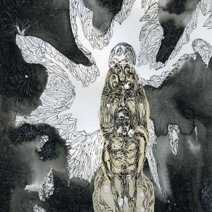 """Cave Man, 11""""x9"""" ink, paper"""