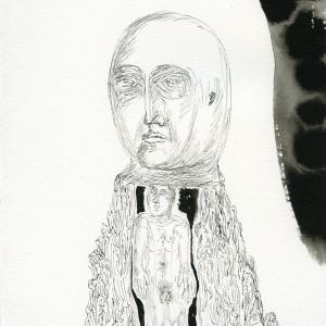 """Headman, 11""""x9"""" ink, paper"""